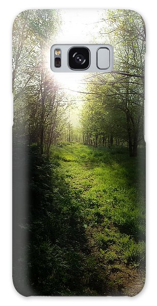 Walk In The Woods Galaxy Case by Michele Carter