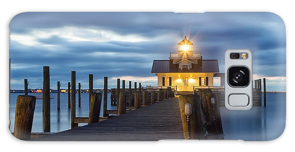 Walk To Roanoke Marshes Lighthouse Galaxy Case