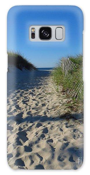 Walk To The Beach Galaxy Case