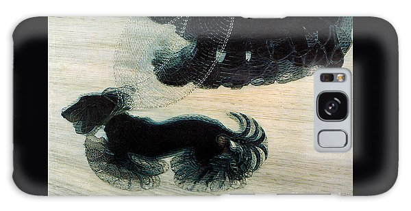 Leash Galaxy Case - Walking Dog On Leash by Mindy Sommers
