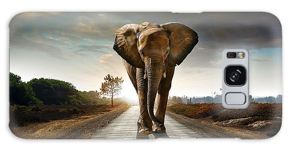Walking Elephant Galaxy Case by Carlos Caetano