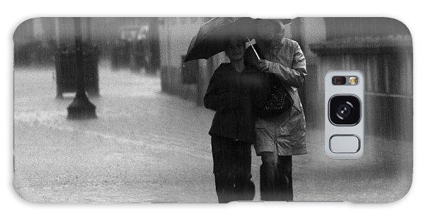Walking In The Rain Galaxy Case by Gabor Pozsgai