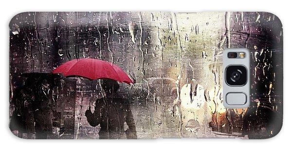 Walking In The Rain Somewhere Galaxy Case