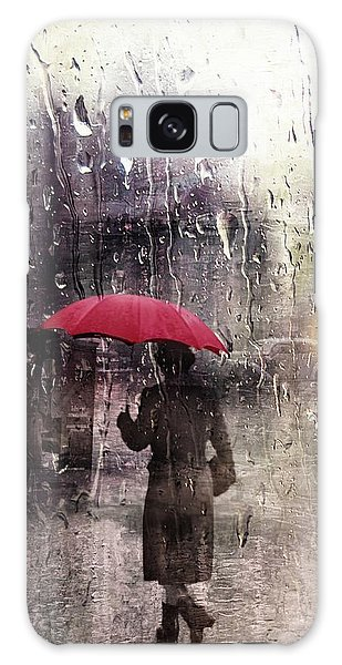 Walking In The Rain Somewhere Galaxy Case
