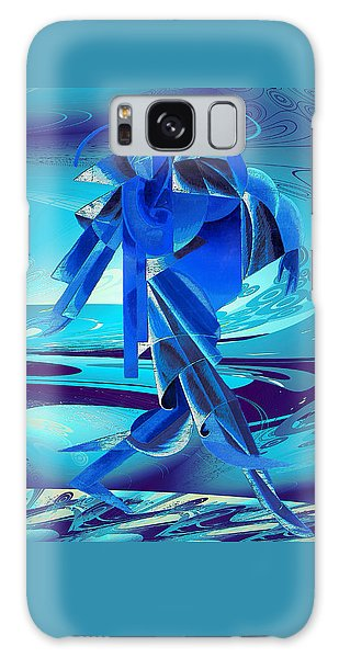 Galaxy Case featuring the digital art Walking On A Stormy Beach by Robert G Kernodle