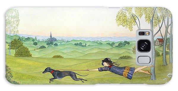 Leash Galaxy Case - Walking The Dog  by Ditz