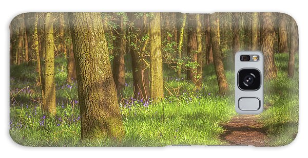 Bluebell Galaxy Case - Walking Through The Bluebell Wood by Chris Fletcher