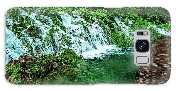 Walking Through Waterfalls - Plitvice Lakes National Park, Croatia Galaxy Case