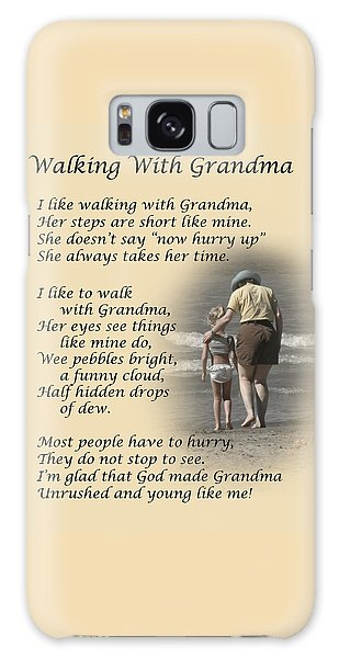 Walking With Grandma Galaxy Case