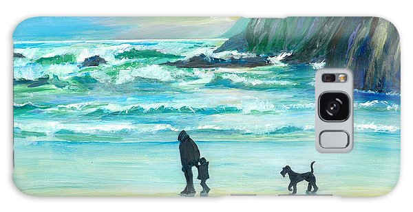 Walking With Grandpa - Painting Galaxy Case