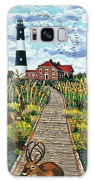 Walkway To Fire Island Lighthouse Galaxy Case by Bonnie Siracusa