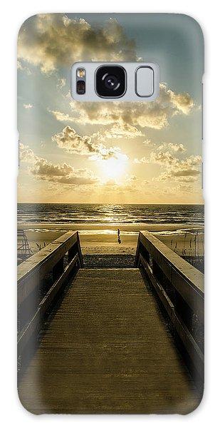 Walkway To The Beach Galaxy Case