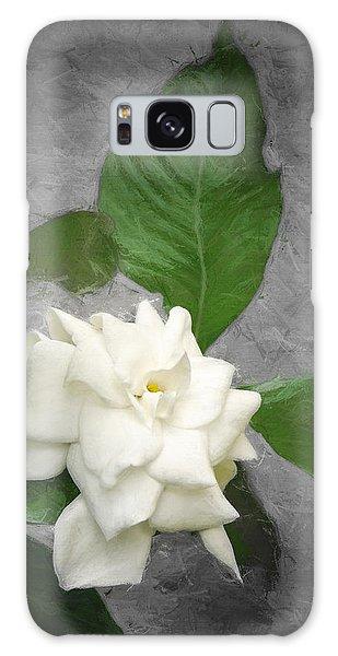 Gardenia Galaxy Case - Wall Flower by Carolyn Marshall