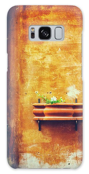Galaxy Case featuring the photograph Wall Gutter Vase by Silvia Ganora