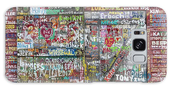 Galaxy Case featuring the photograph Wall Of Love by Joel Witmeyer