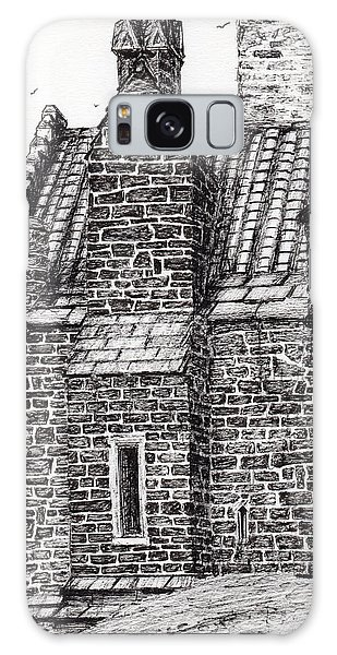 Pen And Ink Drawing Galaxy Case - Wallace Monument  The Small House by Vincent Alexander Booth