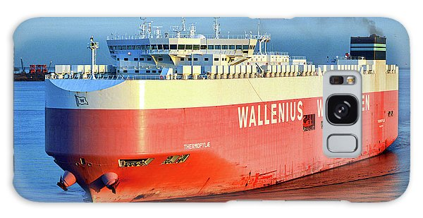 Galaxy Case featuring the photograph Wallenius Wilhelmsen Thermopylae 9702443 On The Patapsco River by Bill Swartwout Fine Art Photography