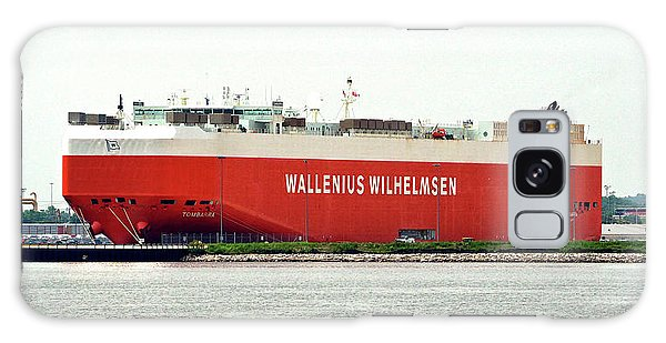 Galaxy Case featuring the photograph Wallenius Wilhelmsen Tombarra 9319753 At Curtis Bay by Bill Swartwout Fine Art Photography