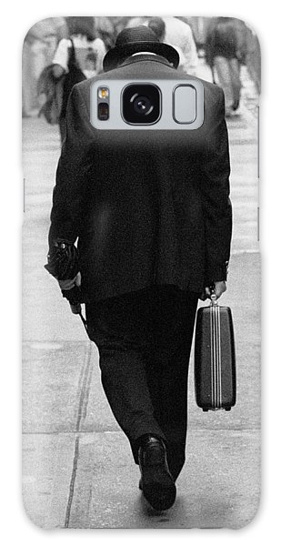Galaxy Case featuring the photograph Wall Street Man by Dave Beckerman