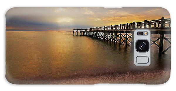 Walnut Beach Pier Galaxy Case