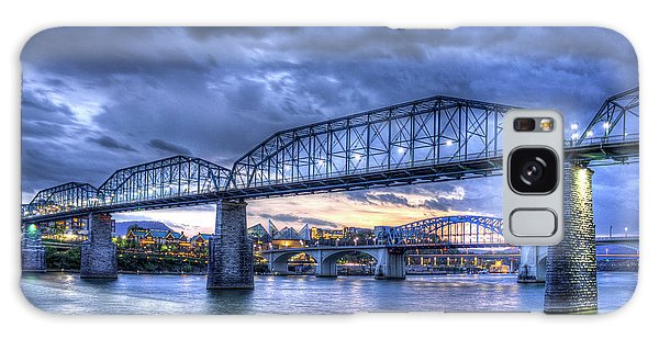 Walnut Street Pedestrian Bridge Sunset Chattanooga Tennessee Art Galaxy Case