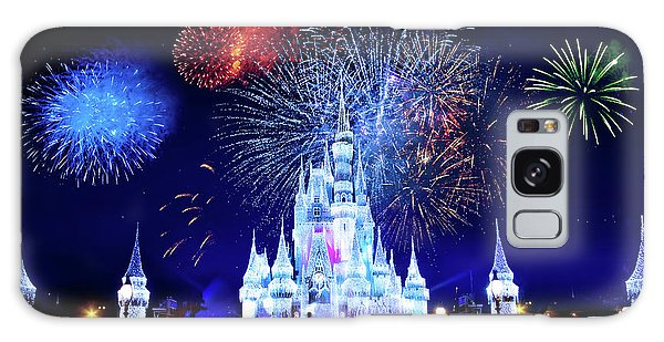 Walt Disney World Fireworks  Galaxy Case by Mark Andrew Thomas