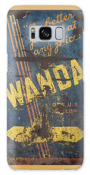 Wanda Motor Oil Vintage Sign Galaxy Case