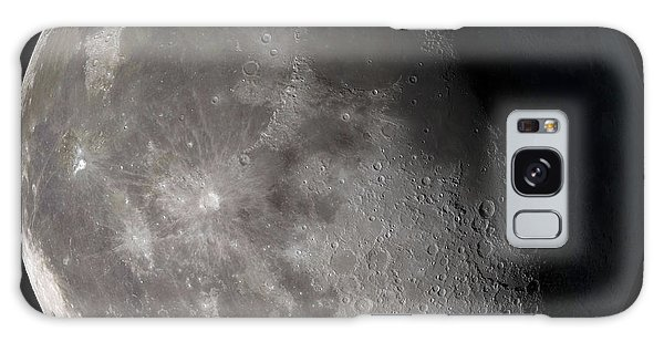 Galaxy Case featuring the photograph Waning Gibbous Moon by Stocktrek Images