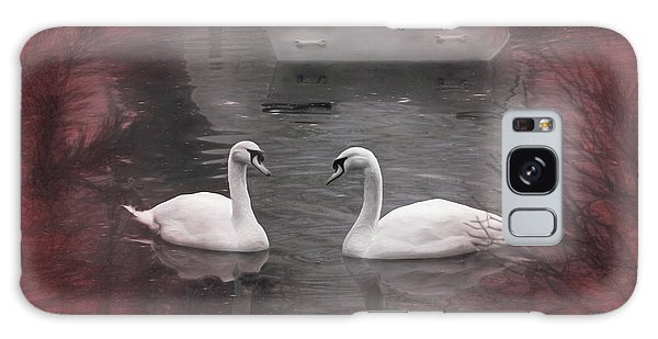 Swan Boats Galaxy Case - Wanna Go For A Boat Ride ? by Donna Kennedy