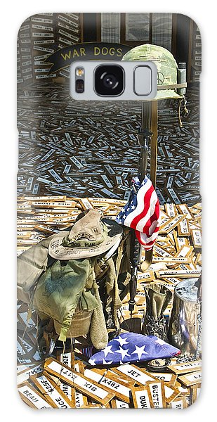 Galaxy Case featuring the photograph War Dogs Sacrifice by Carolyn Marshall