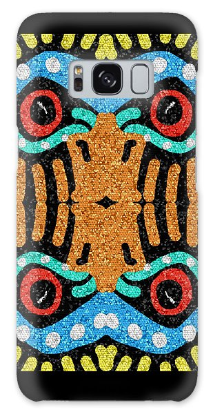 Galaxy Case featuring the digital art War Eagle Totem Mosaic by Shelli Fitzpatrick
