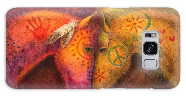 War Horse And Peace Horse Galaxy Case by Sue Halstenberg