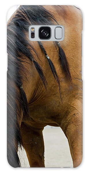 Galaxy Case featuring the photograph War Horse by Lorraine Devon Wilke