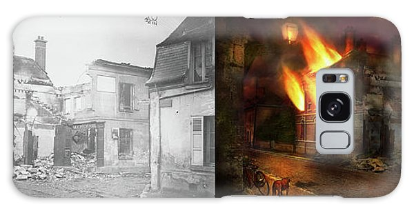 War - Wwi -  Not Fit For Man Or Beast 1910 - Side By Side Galaxy Case by Mike Savad
