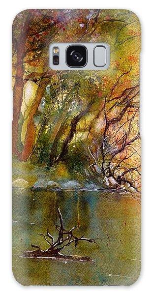 Warm Autumn Light Over The River Rhein Galaxy Case