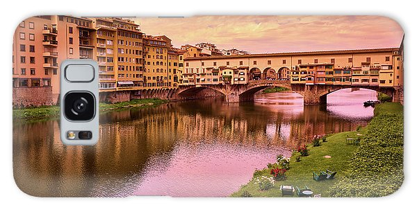 Warm Colors Surround Ponte Vecchio Galaxy Case
