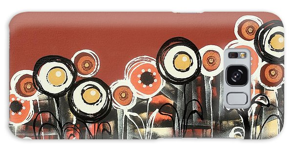 Warm Red Flowers Galaxy Case