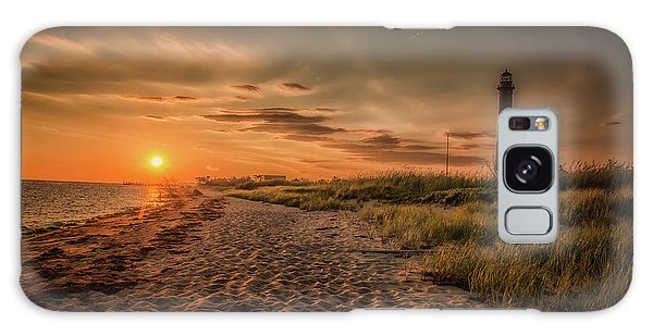 Warm Sunrise At The Fire Island Lighthouse Galaxy Case