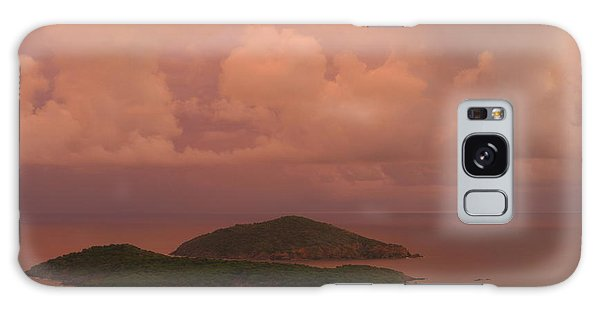 Warm Sunset Palette Of Inner And Outer Brass Islands From St. Thomas Galaxy Case