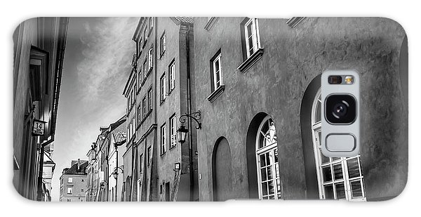 Warsaw Street In Black And White  Galaxy Case