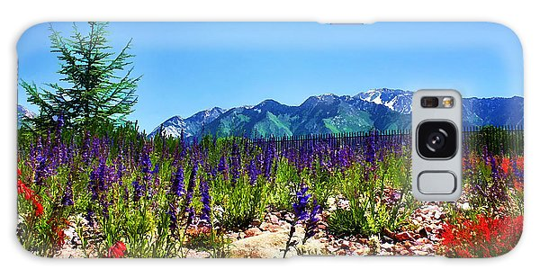 Wasatch Mountains In Spring Galaxy Case by Tracie Kaska
