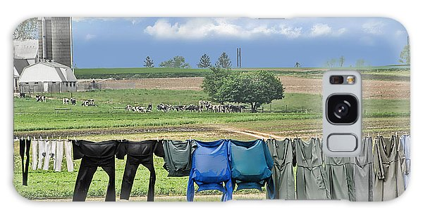 Wash Day In Amish Country Galaxy Case