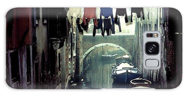 Washday In Venice Italy Galaxy Case