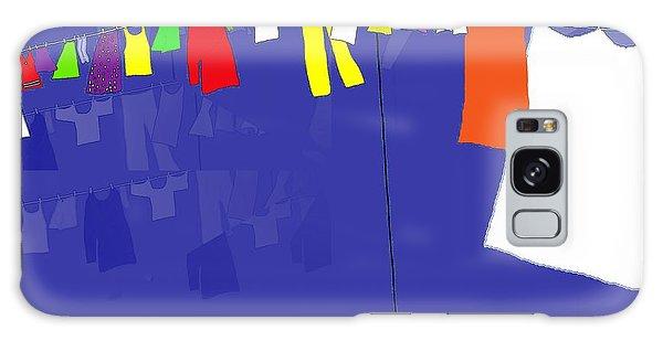 Washing Line Galaxy Case by Barbara Moignard
