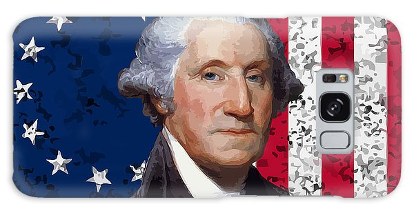 Washington And The American Flag Galaxy Case