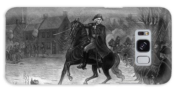 Washington At The Battle Of Trenton Galaxy Case
