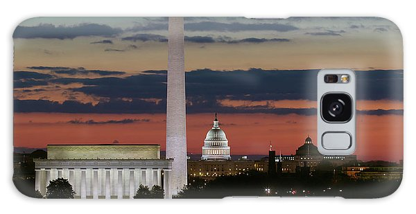 Washington Dc Landmarks At Sunrise I Galaxy Case