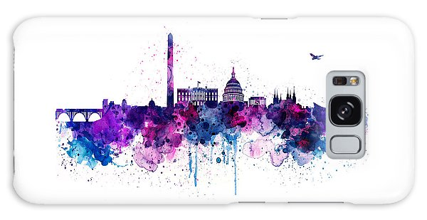 Washington Dc Skyline Galaxy Case by Marian Voicu