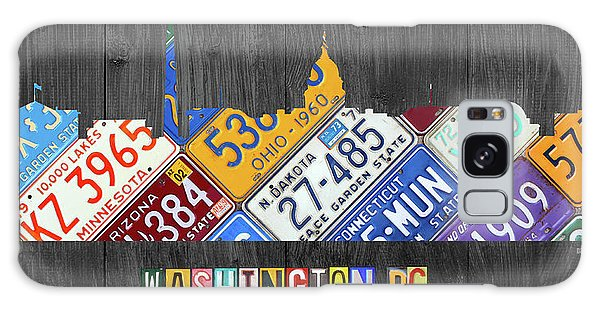 Washington Monument Galaxy Case - Washington Dc Skyline Recycled Vintage License Plate Art by Design Turnpike