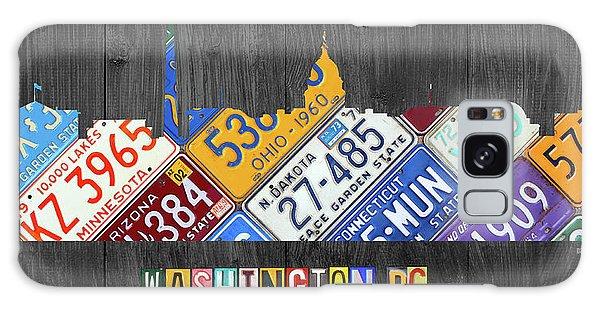 Washington Dc Skyline Recycled Vintage License Plate Art Galaxy Case